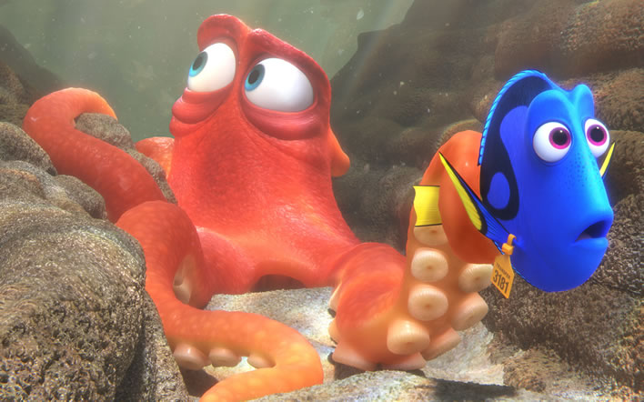 Hank the octopus from 'Finding Dory'
