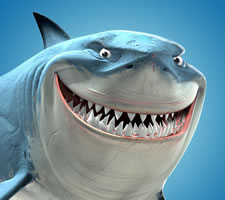 Yes, yes, I know it's Bruce from 'Finding Nemo'. He's not in 'Finding Dory'. Consider it a post-fact fact.
