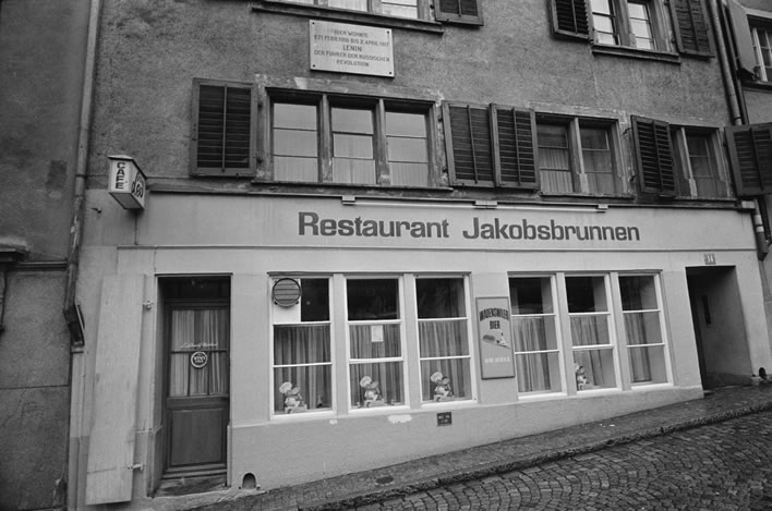 A photograph of Spiegelgasse 14 taken shortly before the demolition of the house in 1971.