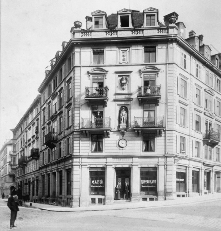 The Café-Restaurant Zähringer in 1900.