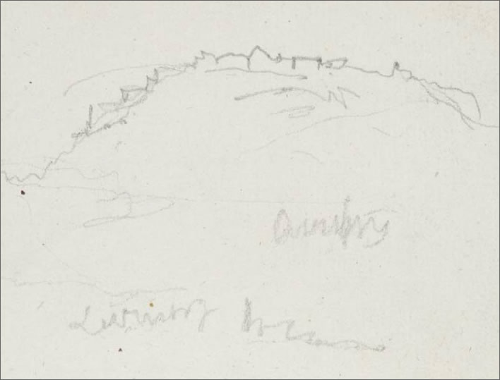Hohenasperg: sketch by Joseph Mallord William Turner, 1833