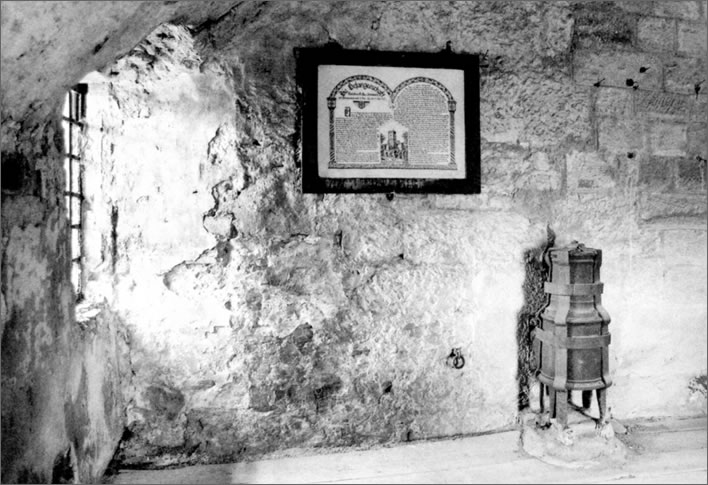 A relatively modern photograph of Schubart's fake cell on Hohenasperg.
