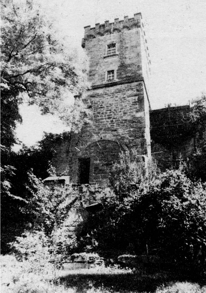 A photograph of the 'Schubart Tower' from inside the fortress in relatively modern times.