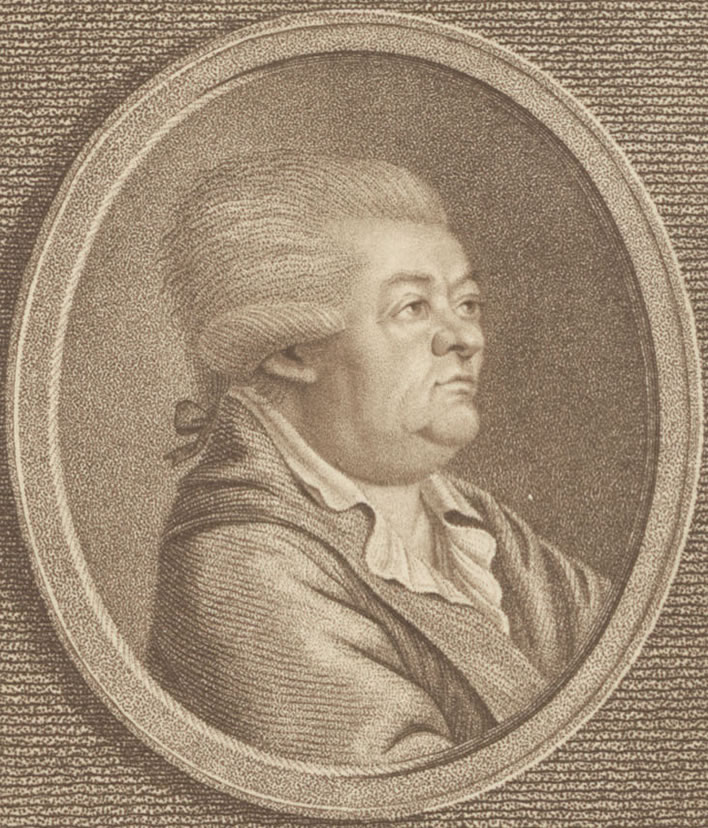 Christian Friedrich Daniel Schubart: silverpoint by Anton Karcher based on a work by Philipp Gottfried Lohbauer, 1788.