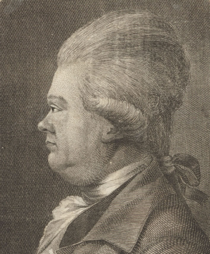 Christian Friedrich Daniel Schubart, engraved by Christian Jakob Schlotterbeck, 1785.