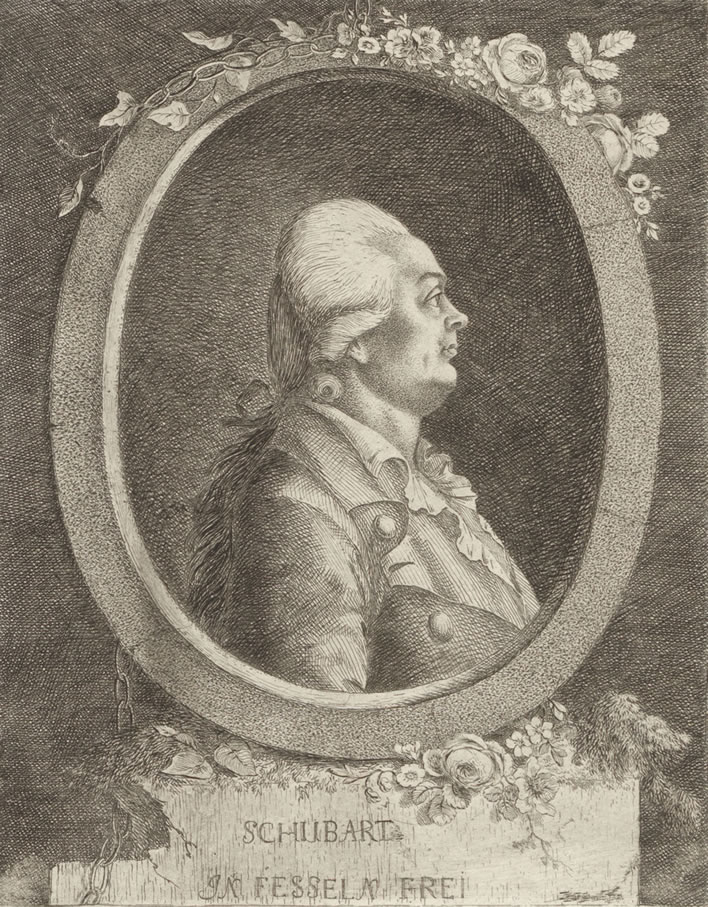 Christian Friedrich Daniel Schubart, unknown artist, date post 1784.