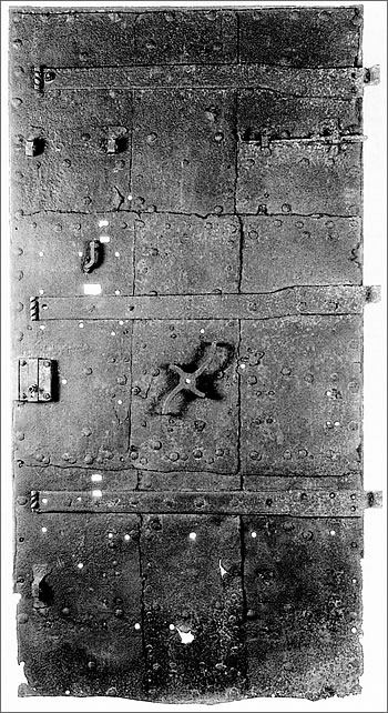 Schubart's view of the door in his dungeon cell.