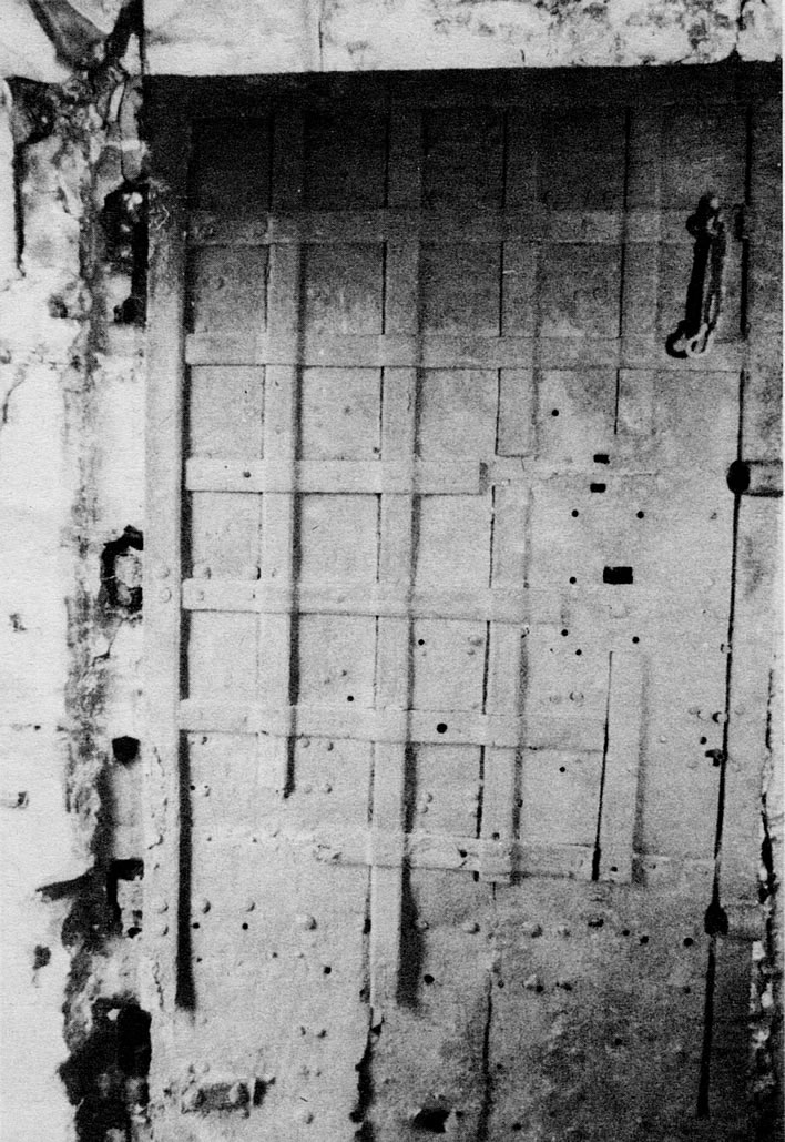 The door to Schubart's cell in situ.