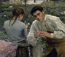 Jules Bastien-Lepage, 'Rural Love', 1883 (detail)