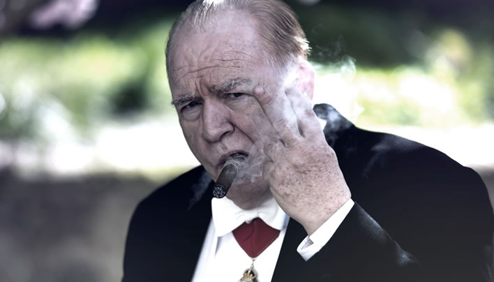 Churchill, played by Brian Cox.