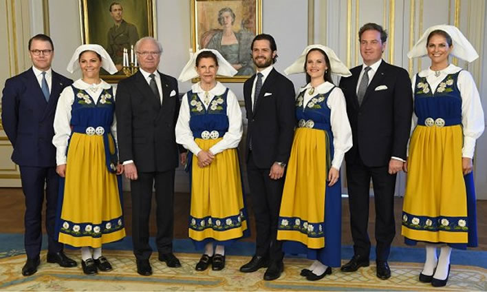Some members of the Swedish royal family, National Day 2017