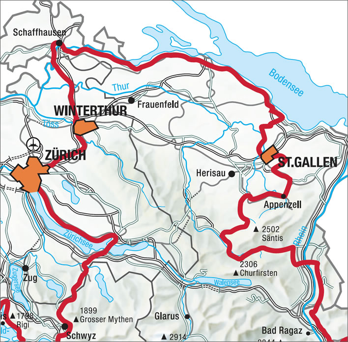 An interesting stretch of the Swiss Grand Tour - leave plenty of time to enjoy it.