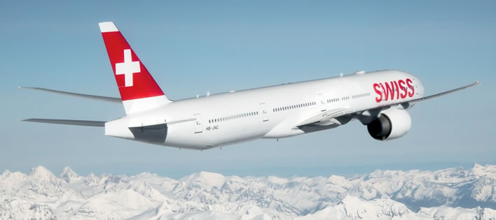 Swiss takes to the skies.