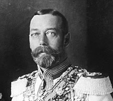 King George V in Russian uniform, 22 August 1913