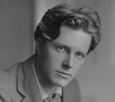 Rupert Brooke, photographed April 1913 by Sherrill Schell, ©reserved,National Portrait Gallery, London.