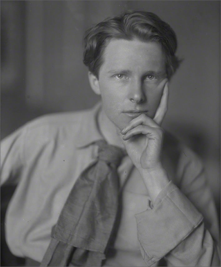 Rupert Brooke, photographed in April 1913 by Sherrill Schell