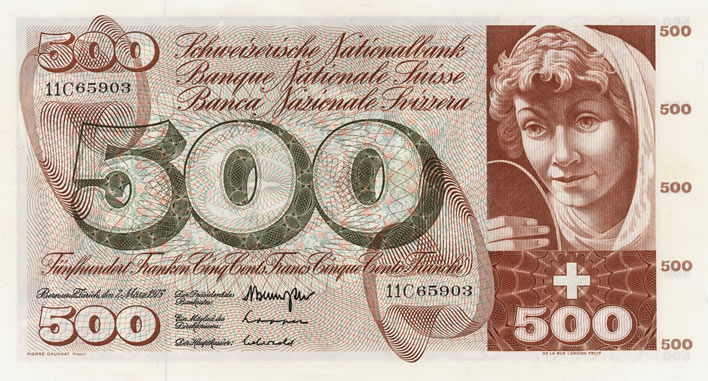 Pierre Gauchat Swiss series 5 banknote designs: 500fr Fount of Youth A295.303_recto_708x381
