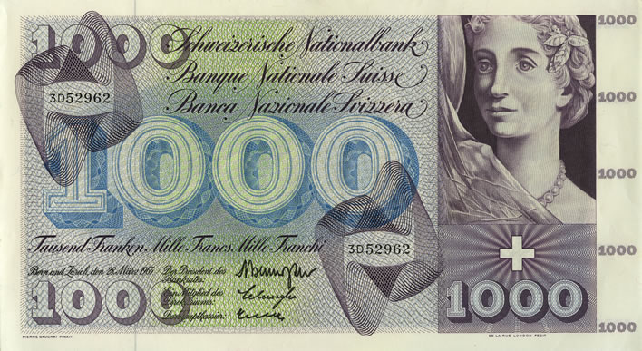 Pierre Gauchat Swiss series 5 banknote designs: 1000fr Dance of Death A296.302_recto_708x387
