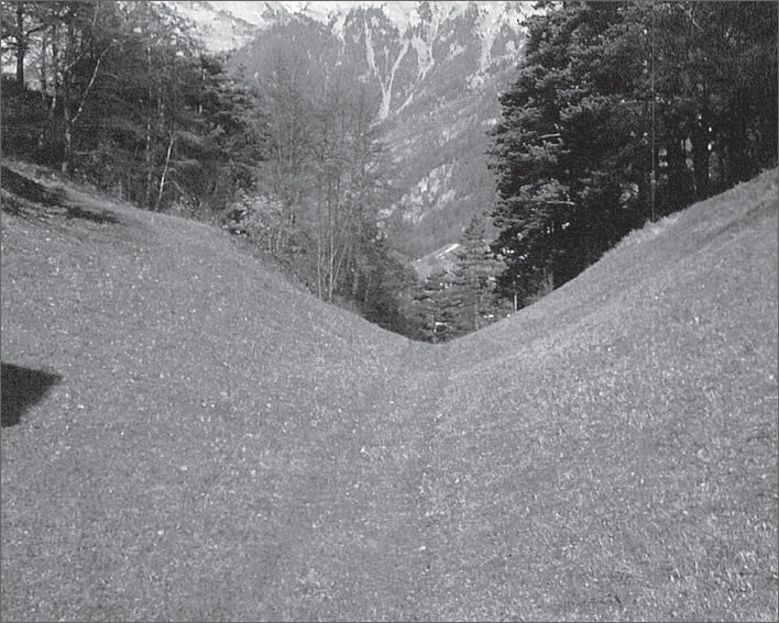 The remains of a pack route between Silenen and Amsteg