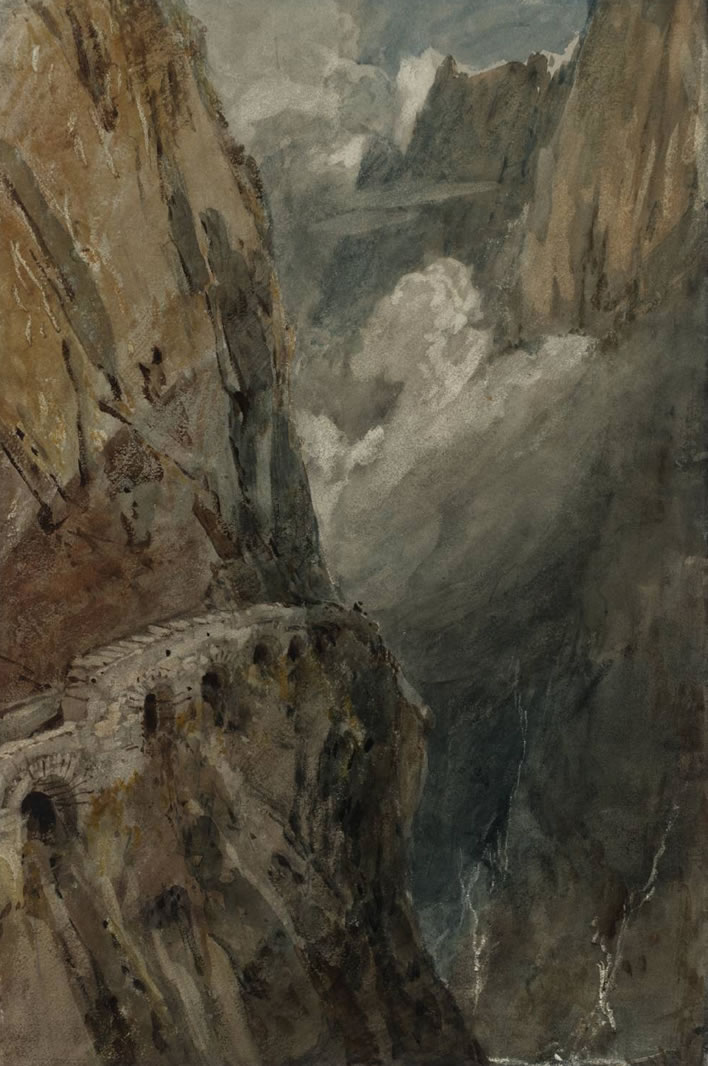 Joseph Mallord William Turner, (1775-1851) The Schöllenen Gorge from the Devil's Bridge, Pass of St Gotthard