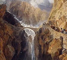 Joseph Mallord William Turner (1775-1851), The Devil's Bridge, St Gothard c.1803–4. Photo ©Tate.