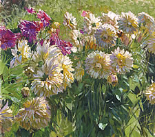 Carl Moll (1861-1945), Dahlien, ND