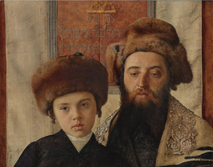 Isidor Kaufmann, Portrait Of A Rabbi With A Young Pupil, ND.