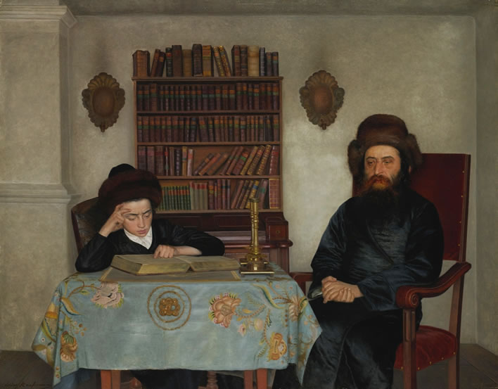 Isidor Kaufmann, Rabbi With Young Student, ND.