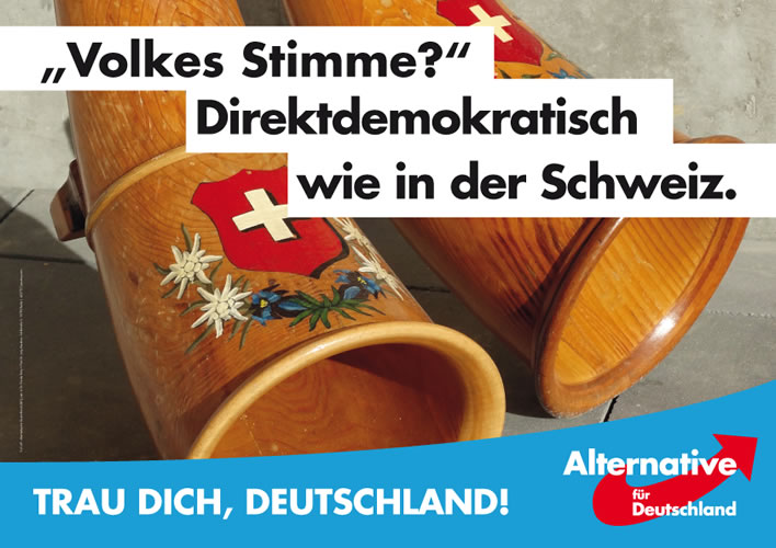 AfD election poster, 2017