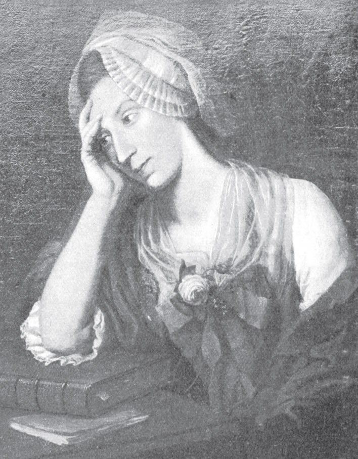 Barbara 'Bäbe' Schulthess, 1781. A reproduction of a portrait by Johann Heinrich Wilhelm Tischbein
