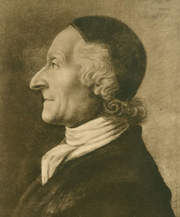 Lavater drawn in 1793 by Andreas Léonard Moeglich