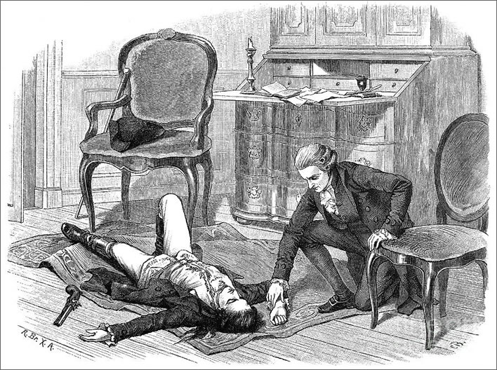 Werther dying