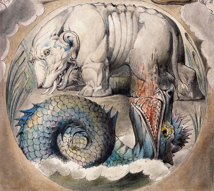 William Blake, Behemoth and Leviathan