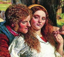 William Holman Hunt (1827-1910), The Hireling Shepherd, 1851 (detail).