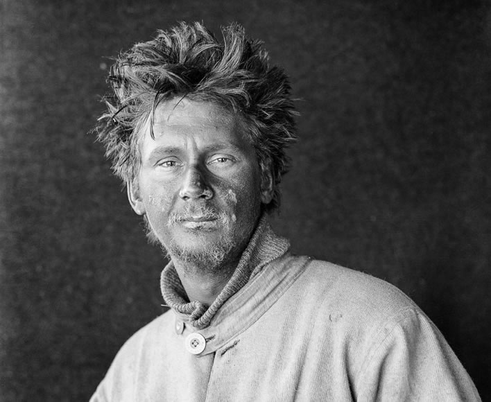 Terra Nova expedition: Charles Wright after his return to the camp at Cape Evans with the First Support Party.