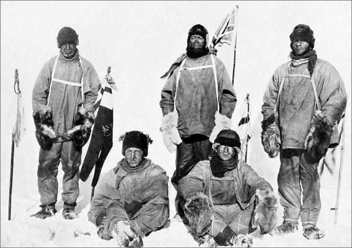 Terra Nova expedition: the Polar Party, a picture of desolation.