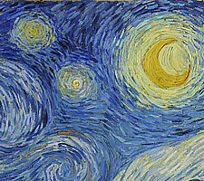 Vincent van Gogh, 'The Starry Night', 1895 (detail).
