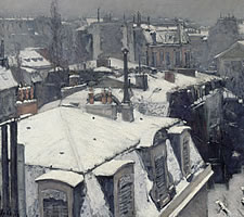 Gustave Caillebotte, 'Rooftops In The Snow', 1878.