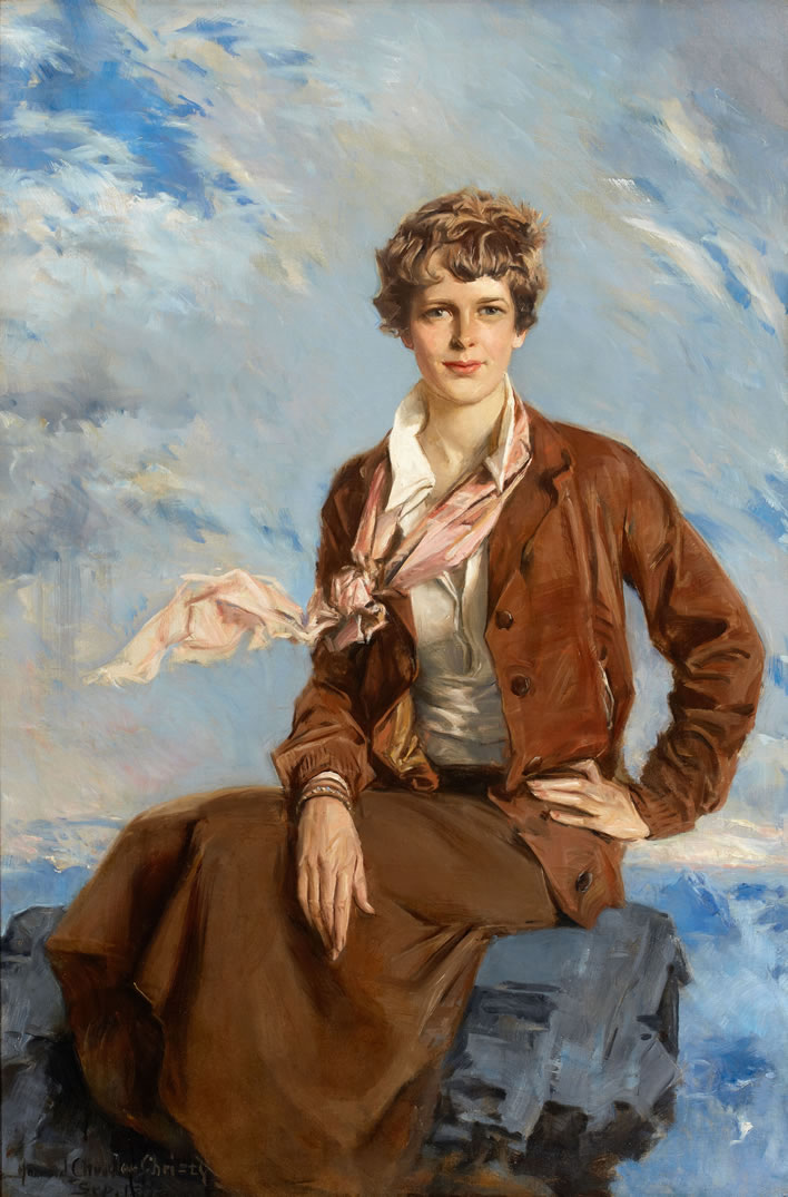 Howard Chandler Christy, Amelia Earhart, 1933