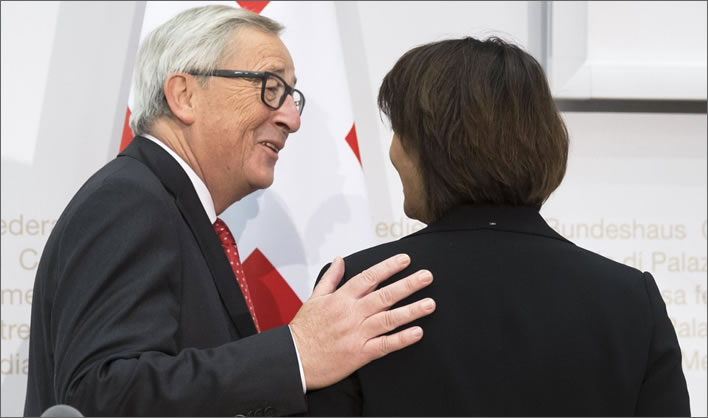 trepidation of the spheres: Jean-Claude Juncker and Doris Leuthard 1.