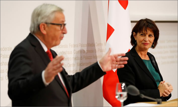 Something in the air tonight: Jean-Claude Juncker and Doris Leuthard 1.