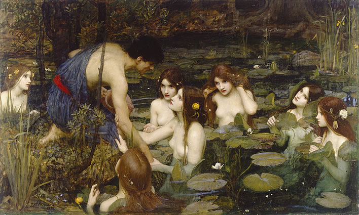 John William Waterhouse R.A., Hylas and the Nymphs, 1896. Image:©Manchester City Galleries.
