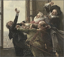 The defenestration by Václav Brožík (1851-1901) c1889 (detail)