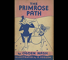 Ogden Nash, 'The Primrose Path', Simon and Schuster, New York, 1935. Dustcover.