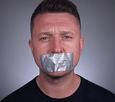 Tommy Robinson gagged