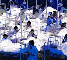 Dance of death: From Danny Boyle's NHS drama at the opening ceremony of the London Olympics in 2012.