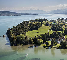 The Au Peninsula in the Lake of Zurich