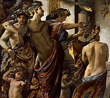 Hot in here, innit? Anselm Feuerbach, 'The Symposium', 1871-74