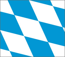 Bavarian flag detail