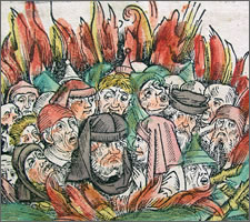 Nüremburg Chronik, Burning the Jews